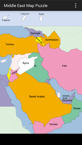Middle East Map Puzzle