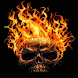 Skull Up In Flames Live Wallpa
