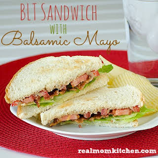 BLT Sandwich with Balsamic Mayo.