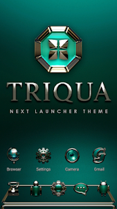 Next Launcher Theme Triqua v2.40