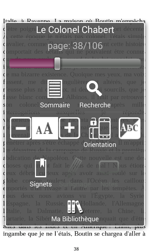 Numilog eBook Reader- screenshot