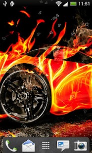 Fire Cars Live Wallpaper - screenshot thumbnail