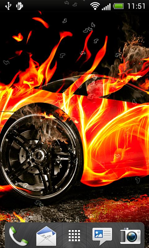 Fire Cars Live Wallpaper - screenshot