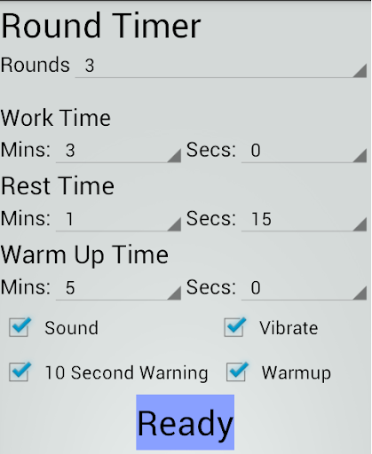 Round Timer and Stopwatch