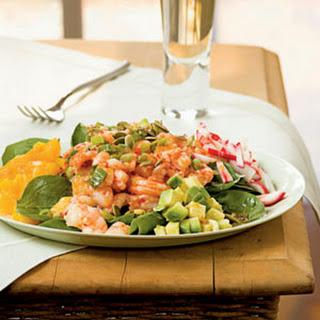 Caribbean Shrimp Salad with Lime Vinaigrette.