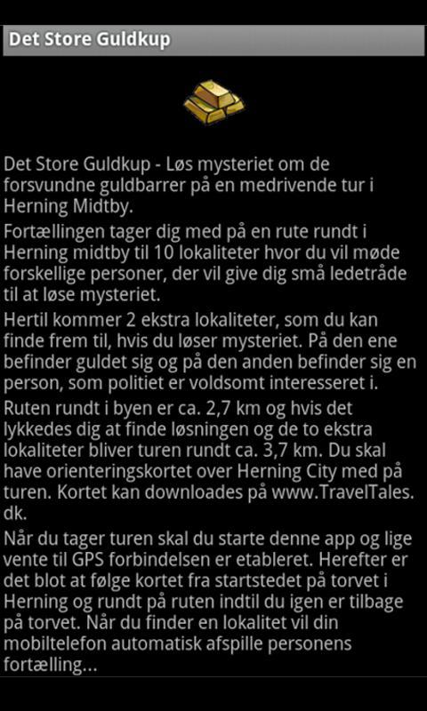Det Store Guldkup- screenshot
