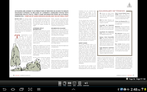 SOA The Actuary Magazine- screenshot thumbnail