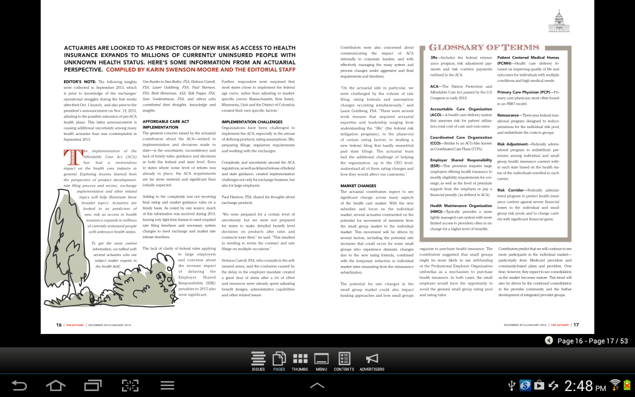 SOA The Actuary Magazine - screenshot