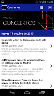 Conciertos Madrid- screenshot thumbnail
