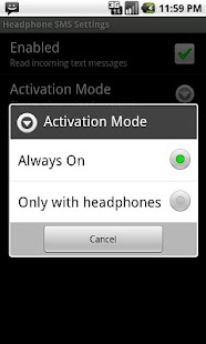 Headphone SMS- screenshot thumbnail