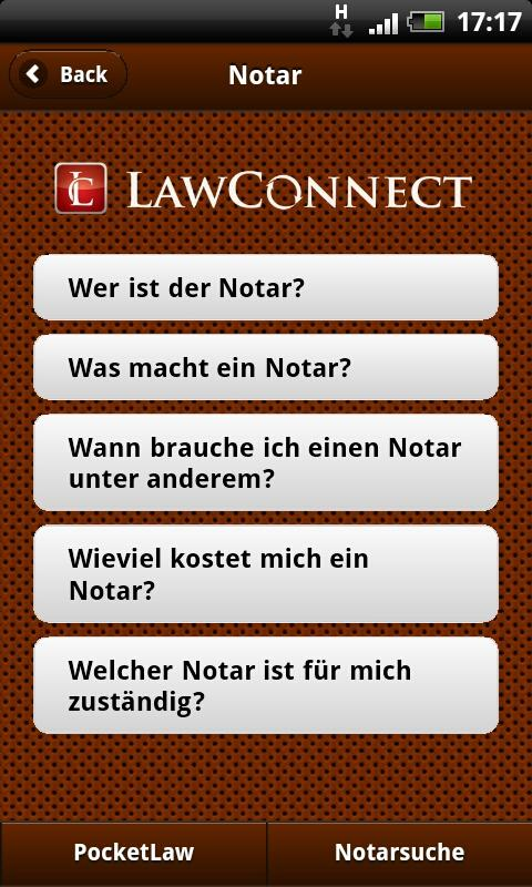 Notar - screenshot