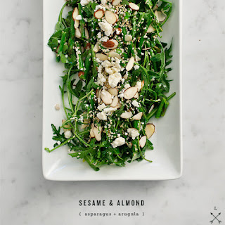 Sesame & Almond Asparagus Salad