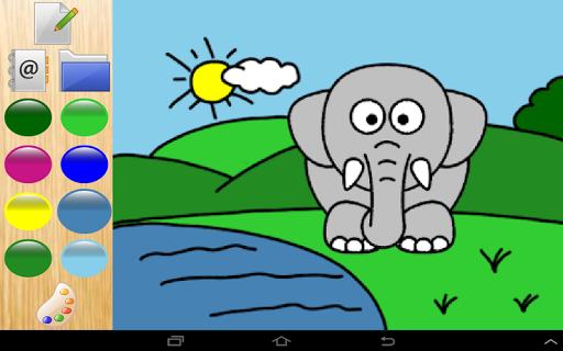 顏色動物園裡的動物