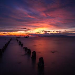 Sunset Kamport province, Cambodia  by Rechard Sniper - Uncategorized All Uncategorized