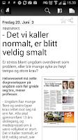 Screenshot of Aftenposten eAvis