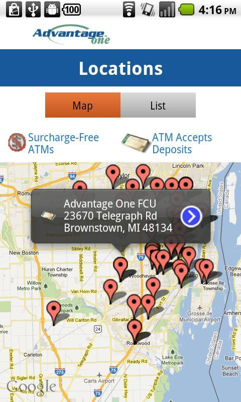 Advantage One FCU - screenshot
