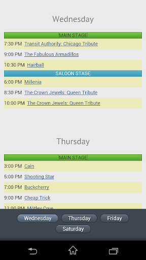 Moondance Jam 2013 Schedules