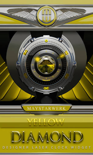 Clock Widget Yellow Diamond