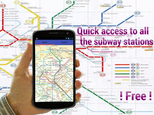 方便的地鐵地圖巴黎