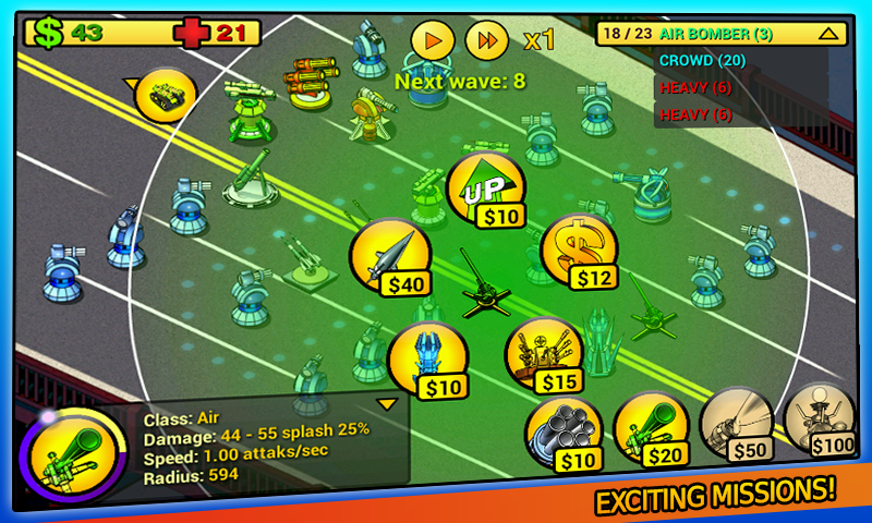 tower defense Line Free - screenshot