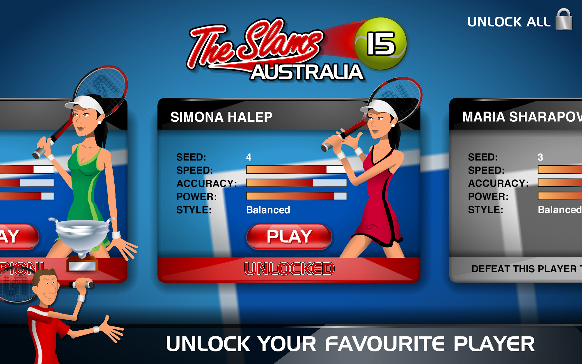 Stick Tennis screenshot #9