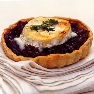 Caramelised Balsamic and Red Onion Tarts with Goats' Cheese Recipe
