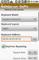 Screenshot of KeyPro - Android Trial