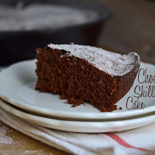 Bittersweet Chocolate Sour Cream Skillet Cake