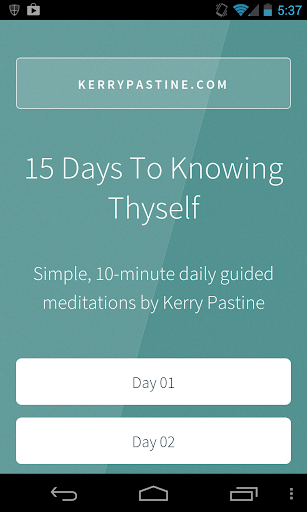 Know Thyself Meditations Free