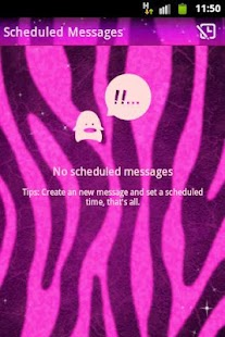 GO SMS Pro Theme Pink Zebra - screenshot thumbnail