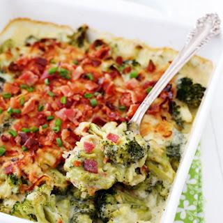 Havarti, Bacon & Fried Onion Broccoli Gratin