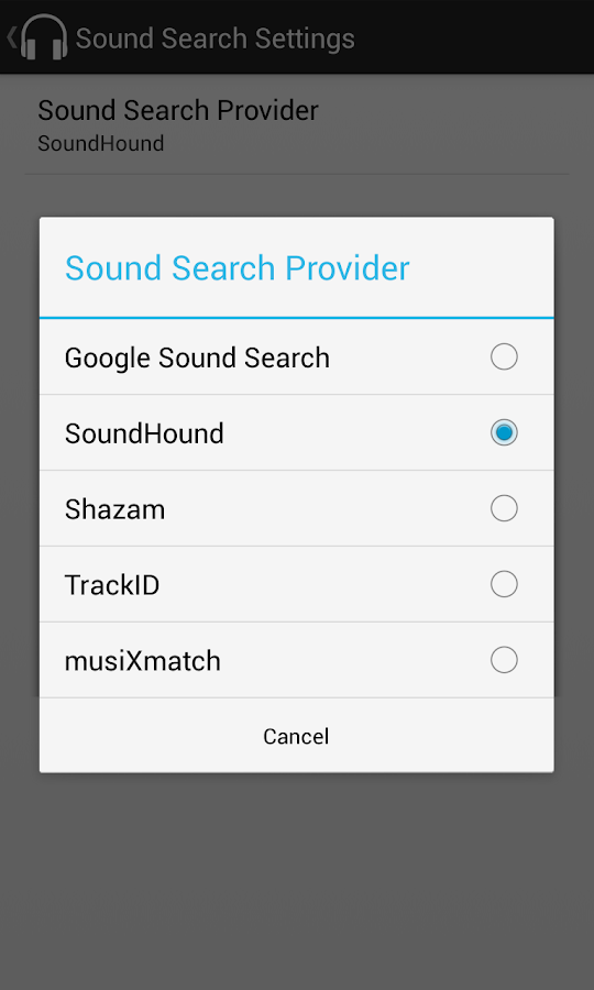 Sound Search for DashClock - screenshot