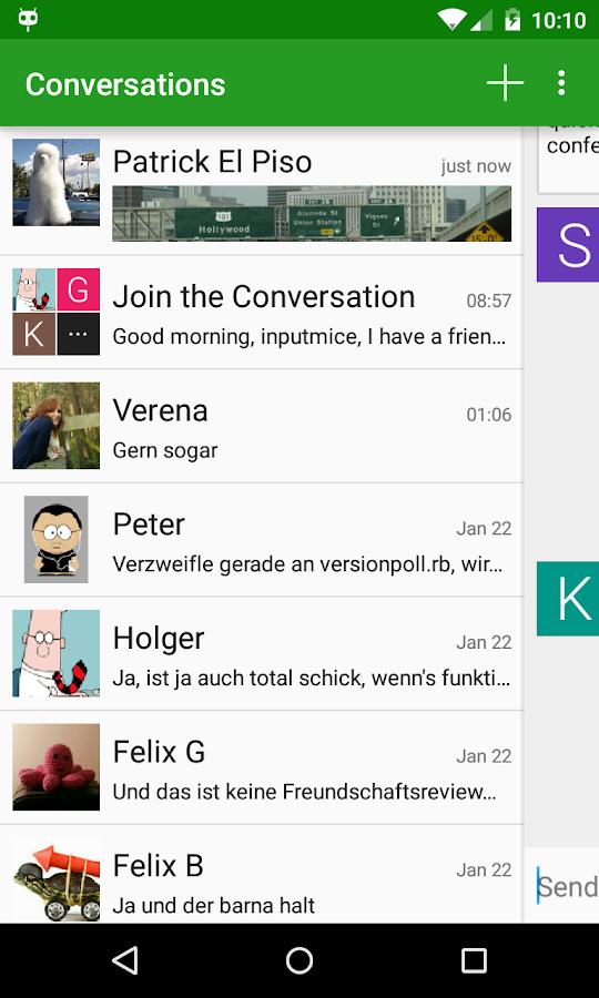 Conversations (Jabber / XMPP) - screenshot