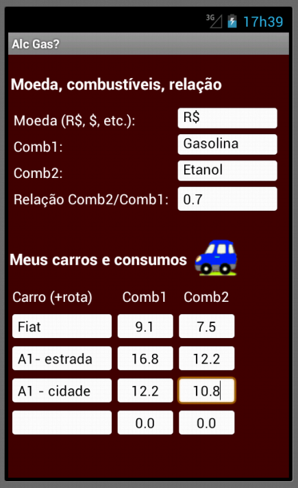 Álcool (Etanol) ou gasolina?- screenshot