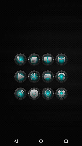 Black and Cyan - Icon Pack