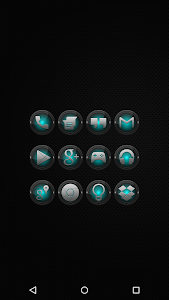 Black and Cyan - Icon Pack v3.2.4.1