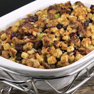 Shortcut Sausage and Cranberry Thanksgiving Stuffing