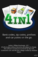 Screenshot of 4in1 - Prefix, Zip, Car, Bank