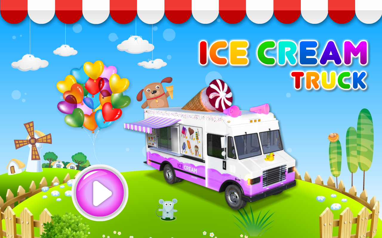 Ice Cream Truck Kids Vehicles- screenshot