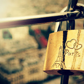 In Paris in love by Tabitha Hobbins - City,  Street & Park  Historic Districts ( paris lovelock france )