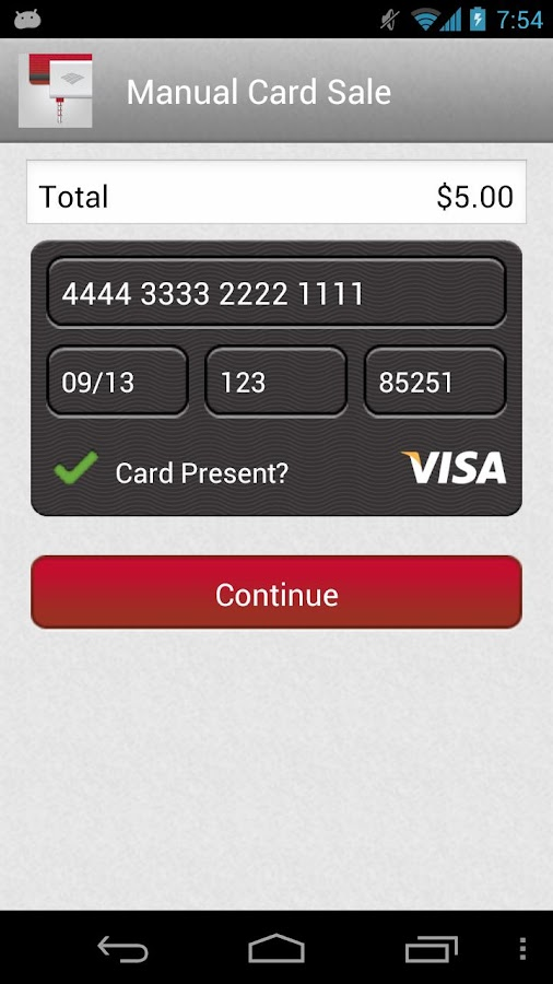 Mobile Pay- screenshot