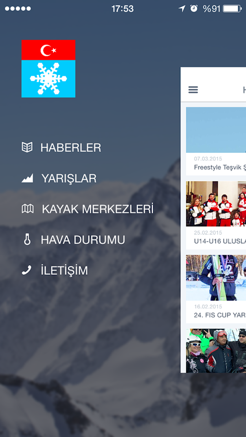 Türkiye Kayak Federasyonu- screenshot