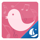 Pink Bird Boat Browser Theme icon