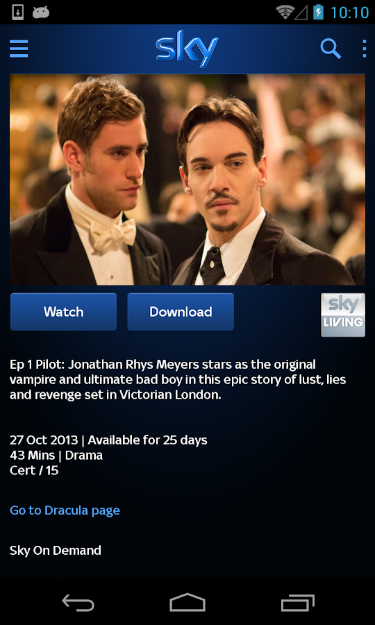 Sky Go - screenshot