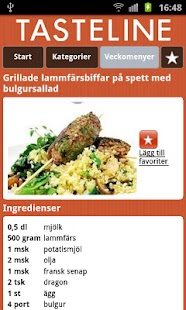 Tasteline Recept - screenshot thumbnail