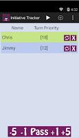 Screenshot of Initiative Tracker