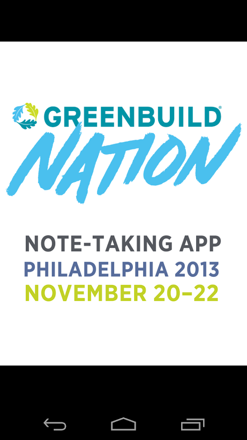 Note Taking: Greenbuild 2013 - screenshot
