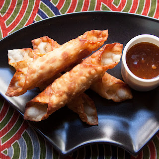 Fried Shrimp Batons with Apricot Ginger Sauce.