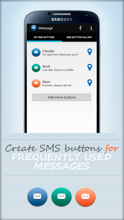 SMS Location Messenger - screenshot