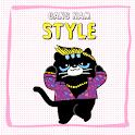 깜장 고양이 까미 -패러디 카톡 테마(무료) icon
